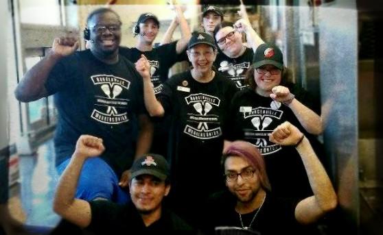Burgerville workers