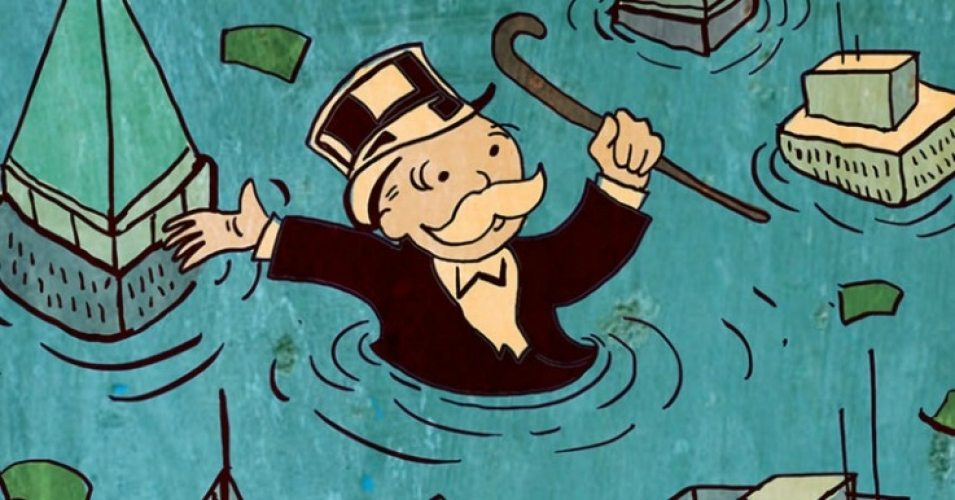 monopoly man drowning
