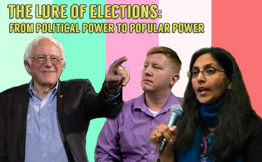 Image of Bernie Sanders, Carter Lee, and Kshama Sawant