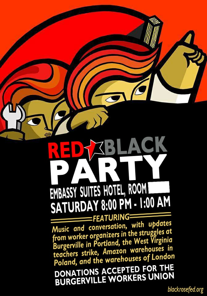 Red & Black Party at 2018 Labor Notes Conference