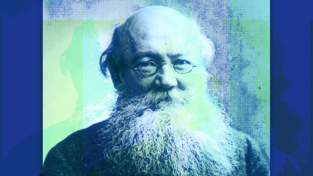 Color stylized photograph of Peter Kropotkin