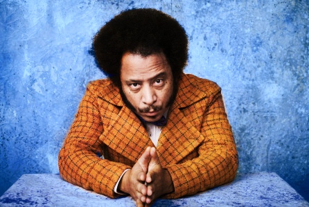 Stylized photo of Boots Riley looking at viewer.