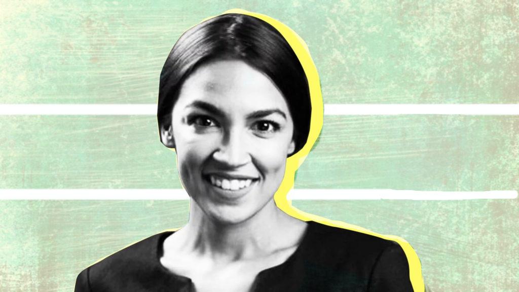 Stylized image of Alexandra Ocasio-Cortez