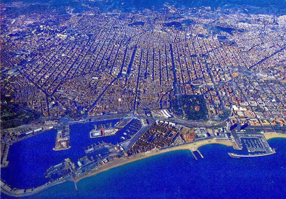 Ariel photo of Barcelona.