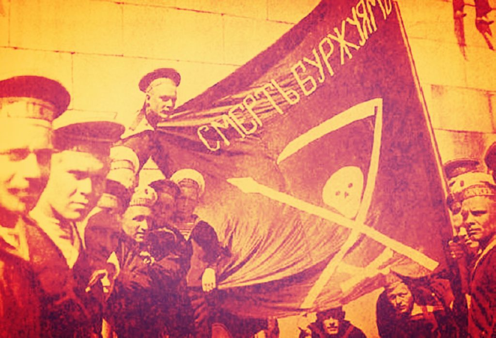 Photo of anarchist sailors during the Russian revolution.