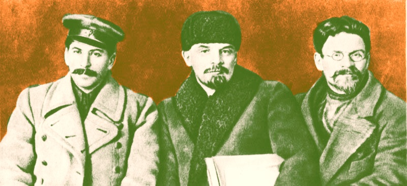 Joseph Stalin, Vladmir Lenin, and Mikhail Kalinin at the 8th Congress of the Russian Communist Party, Mar 1919 ww2dbase