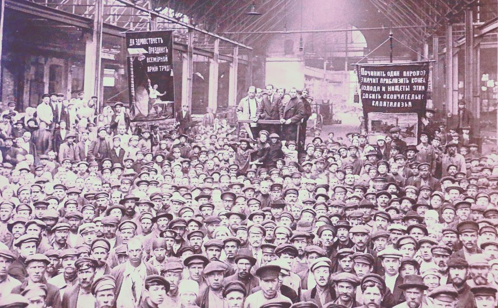 Elections to the Petrograd soviet at the Putilov factory, July 1920.