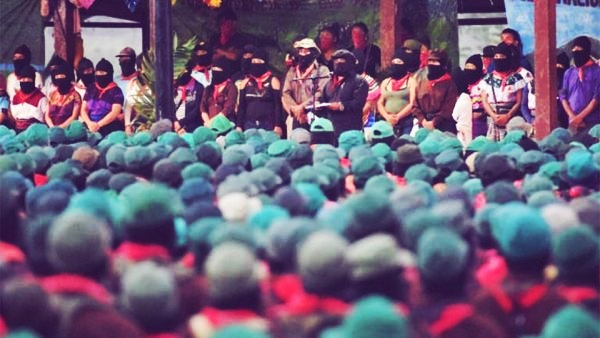 Photo of Zapatista assembly in celebration of their 25th anniversary.