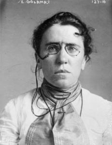 Portrait photo of Emma Goldman.